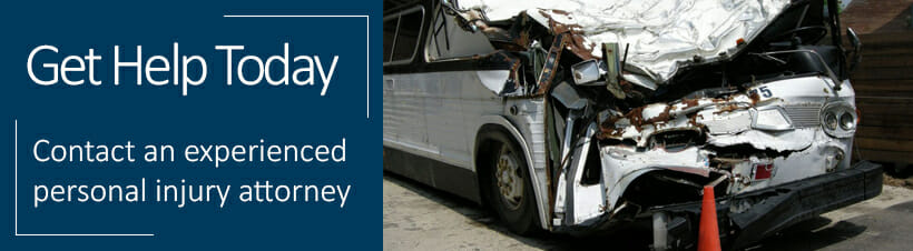 bus accident banner