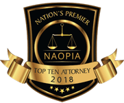 Top Ten Attorney 2018 - Personal Injury Attorneys